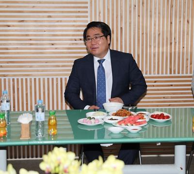 """오세현 아산시장, """"아산시 언론 브리핑.. 이제 시작합니다."""" 관련사진"""