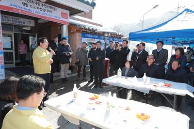 오세현 아산시장, 초사2통 주민위로 행사 참석 관련사진