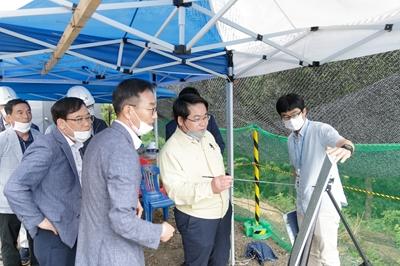 오세현 아산시장, 아산의 맑은 물 관리 현장 점검 관련사진