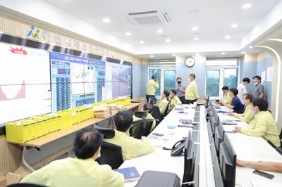 오세현 아산시장, 집중호우로 휴가 중 업무 복귀 관련사진