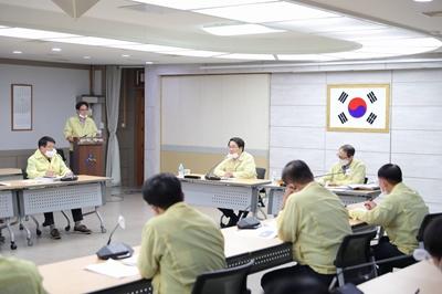 아산시, 집중호우 피해 복구 위한 긴급회의 개최 관련사진