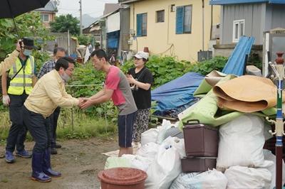 오세현 아산시장, 수해 응급복구 현장 점검 관련사진