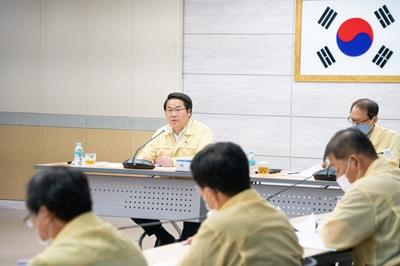 아산시, 호우피해 및 대처상황 회의 개최 관련사진