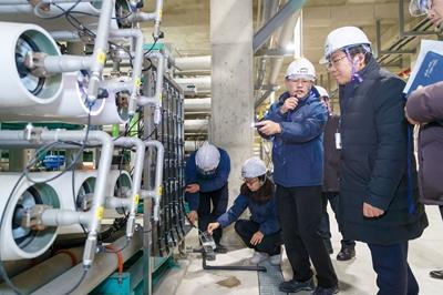 오세현 아산시장, 물관리 현장방문 관련사진