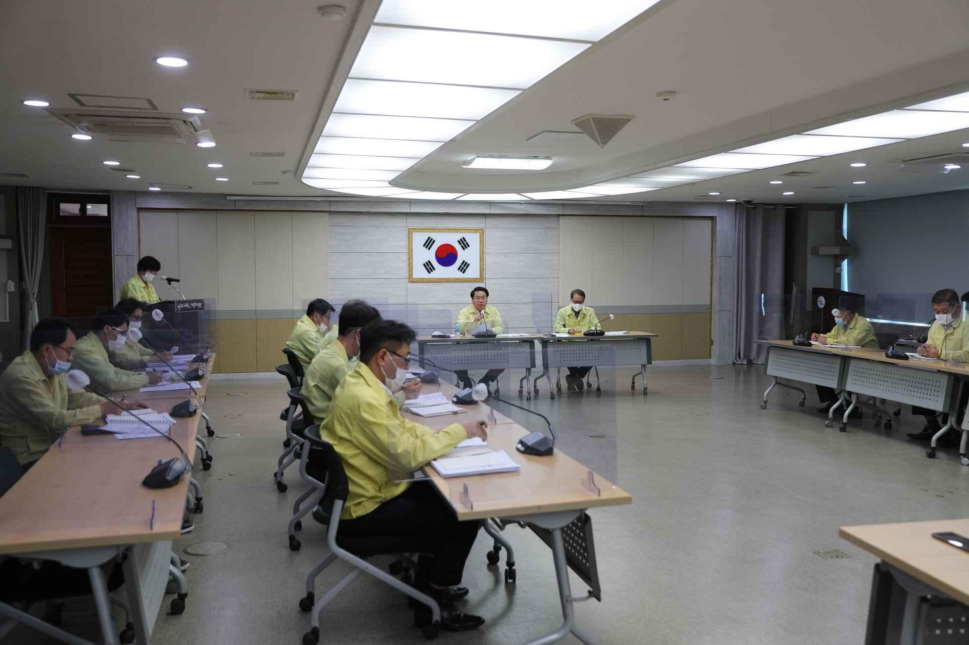 아산시, 코로나19 관련 비상경제 및 생활방역 대책 회의 개최 관련사진