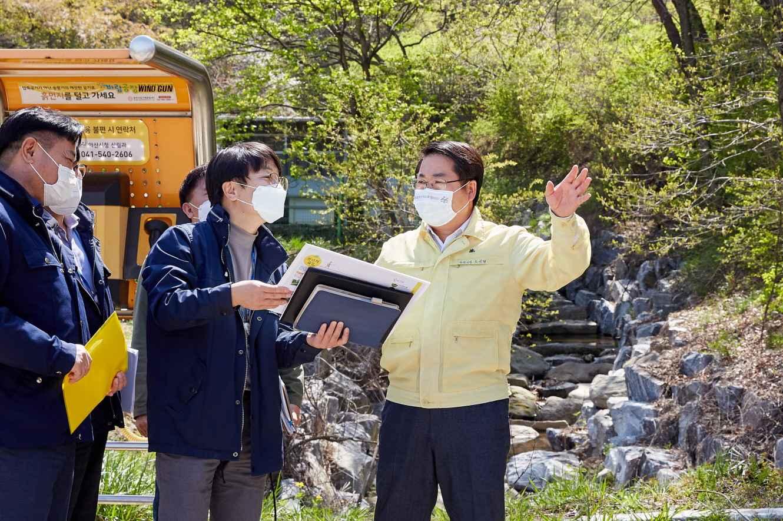 오세현 아산시장, 산림사업장 방문 현장 행정 펼쳐 관련사진